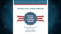San Mateo County Veterans Commission First Annual Veteran of the Year Luncheon 11-10-2016